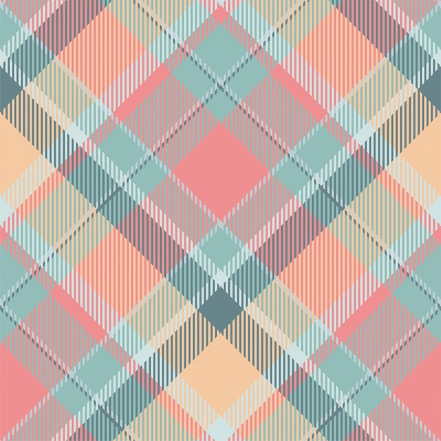 Tartan Szkocja Szkocka Krata Wzoru Bezszwowy Wektor. Tkanina Retro. Vintage Wyboru Koloru Kwadratowa Geometryczna Tekstura. Premium Wektorów