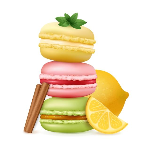 Tasty Ratafee Cakes Composition Darmowych Wektorów