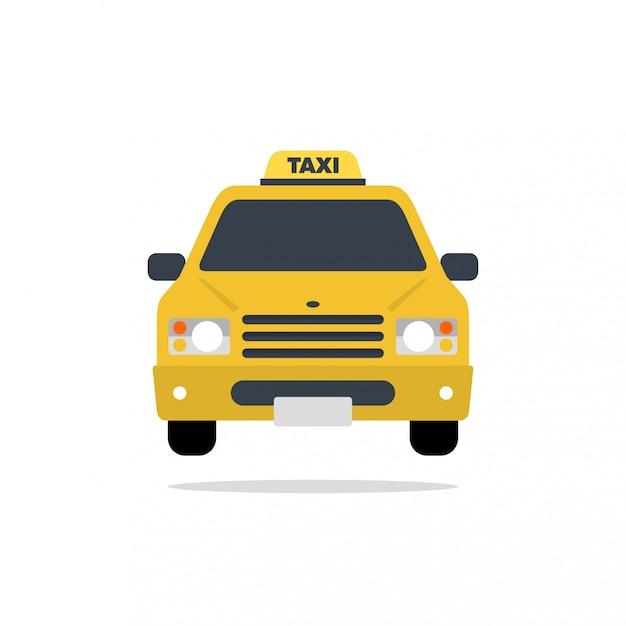 Taxi samochód wektor płaska konstrukcja ilustracja Premium Wektorów