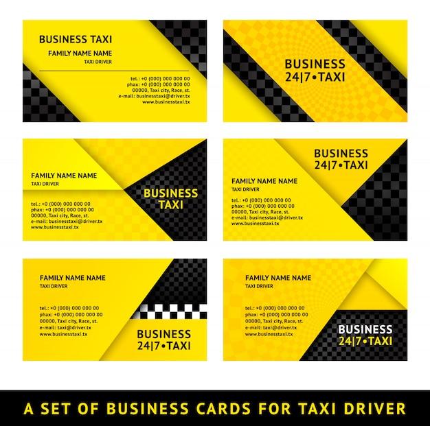 Taxi wizytówki Premium Wektorów
