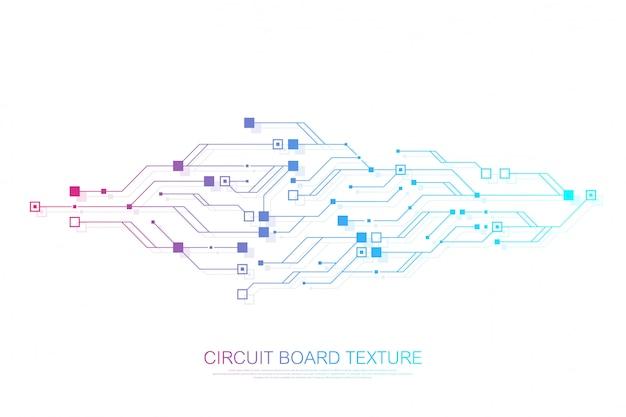 Technologia Abstrakcyjna Płytka Drukowana Inżynieria Koncepcji Elektronicznej Płyty Głównej. Premium Wektorów