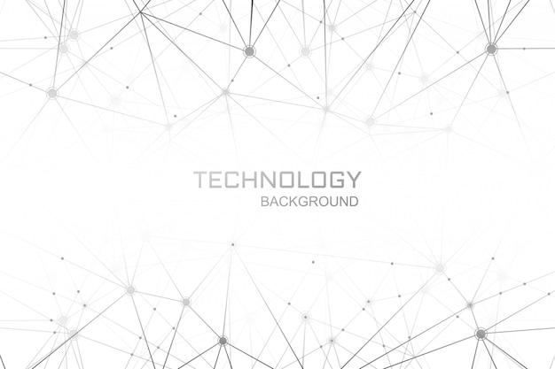 Technologia Cyfrowa Wielokąta Połączenia Tło Darmowych Wektorów