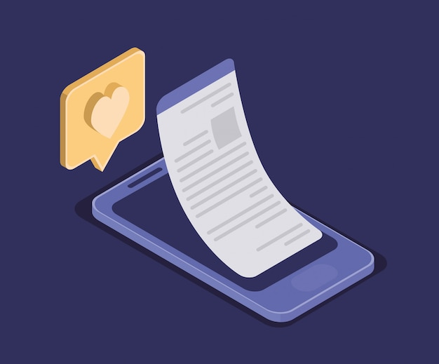 Technologia edukacji online ze smartfonem Premium Wektorów