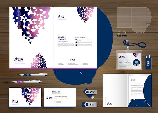 Technologia folderów korporacyjnych firma piśmiennicza, prezentacja, Premium Wektorów
