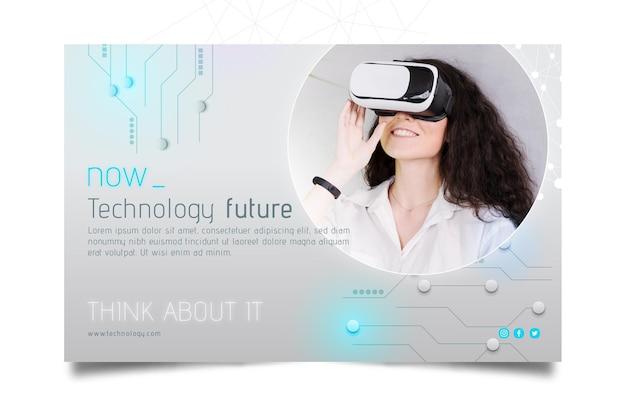 Technologia I Baner Przyszłości Darmowych Wektorów