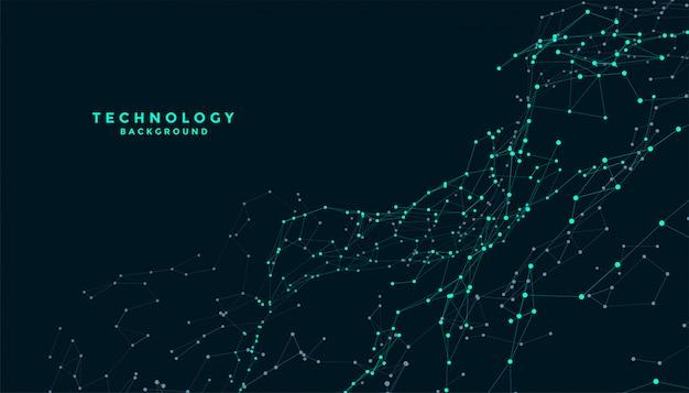 Technologia łączenia Linii Siatki Cyfrowy Projekt Tła Darmowych Wektorów