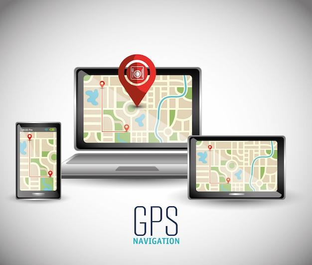 Technologia Nawigacji Gps Premium Wektorów