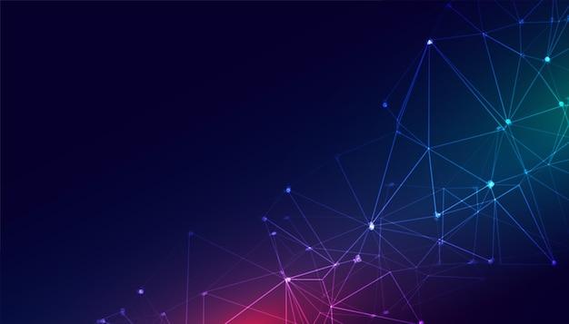 Technologia Połączenia Sieciowego Siatki Drucianej Cyfrowe Tło Darmowych Wektorów