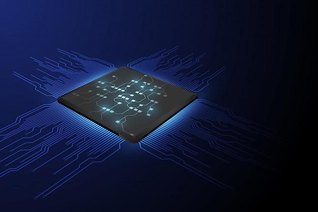 Technologia procesora chipowego Premium Wektorów