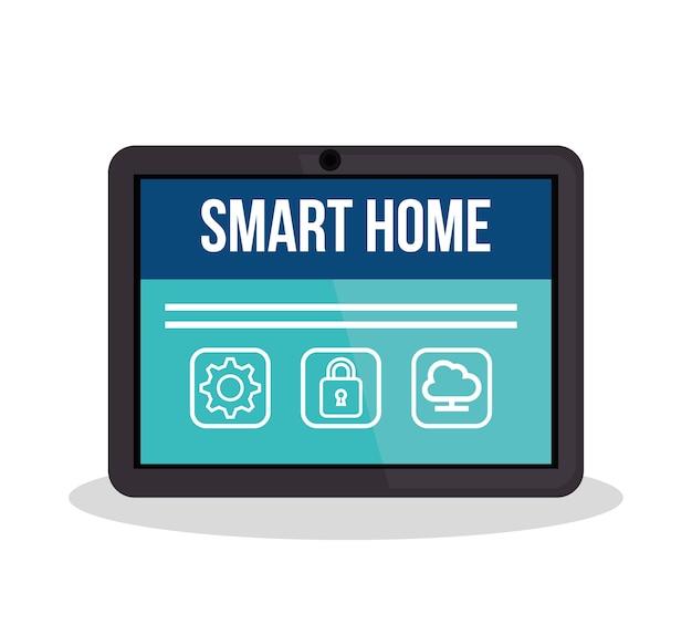 Technologia smarthome Premium Wektorów