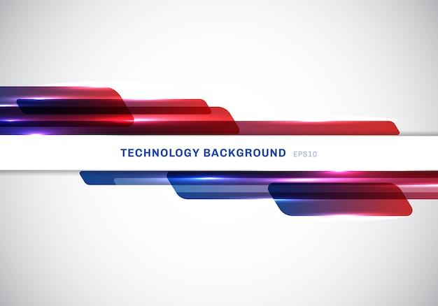 Technologia streszczenie geometryczne kształty nagłówka Premium Wektorów