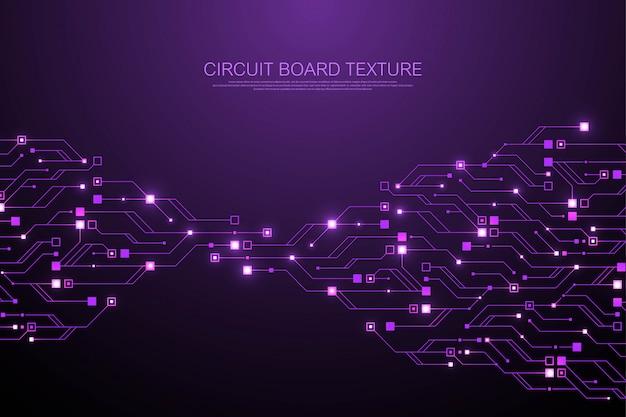 Technologia Streszczenie Płytka Drukowana Tekstura Tło. Zaawansowana Technologicznie Futurystyczna Płytka Drukowana Premium Wektorów