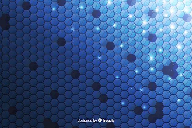 Technologiczny plastra miodu tło w kolorze niebieskim Darmowych Wektorów