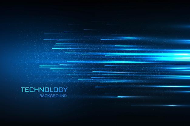 Technologii Pojęcia Błękita Cyfrowy Tło Darmowych Wektorów