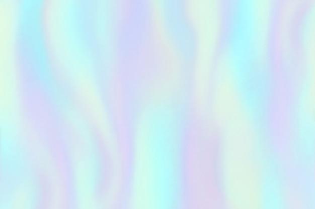 Tęczowa Tekstura Folii. Opalizujący Hologram, Piękne Holograficzne Kolorowe Modne Moda Tło Premium Wektorów