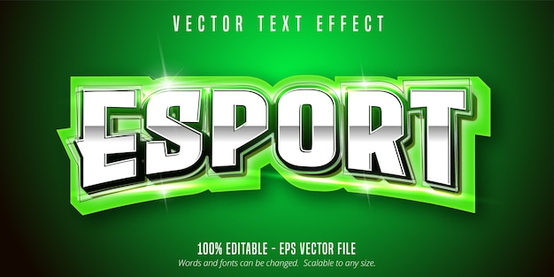 Tekst Esport, Edytowalny Efekt Tekstowy W Stylu Sportowym Premium Wektorów