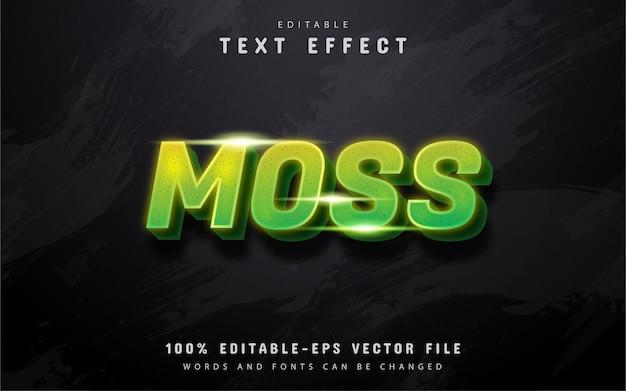 Tekst Z Mchu, Zielony Efekt Tekstowy Gradientu Premium Wektorów