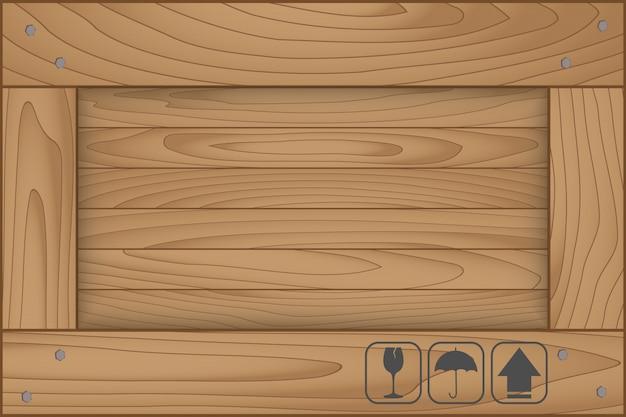 Tekstura Drewno Pudełkowaty I Kruchy Symbol Na Białym Tle Premium Wektorów