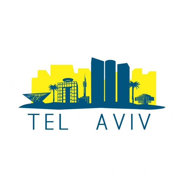 Tel Aviv Skyline Darmowych Wektorów
