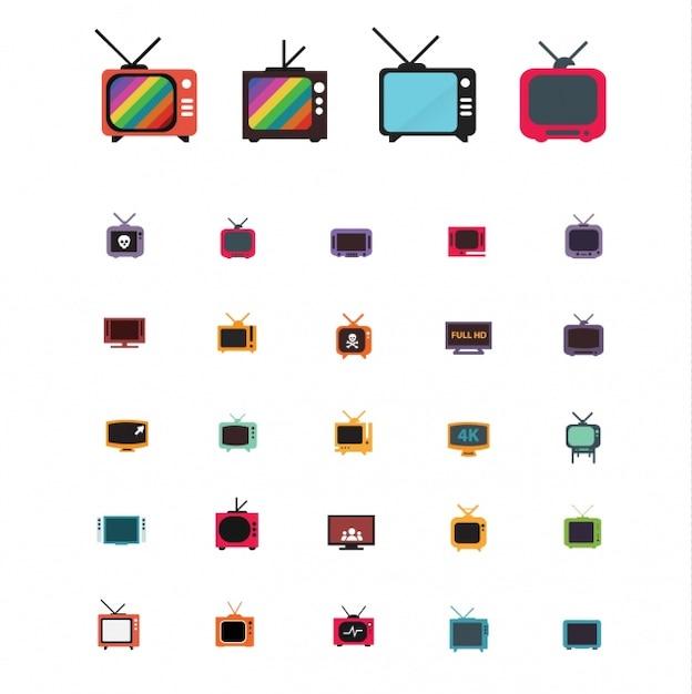 Telewizor projektuje kolekcję Darmowych Wektorów