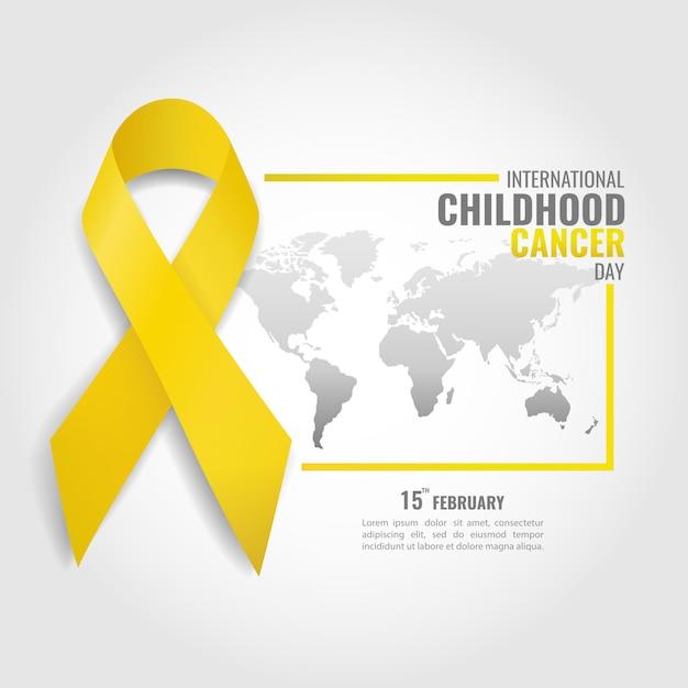 Temat Dnia Dzieciństwa Z Rakiem Premium Wektorów