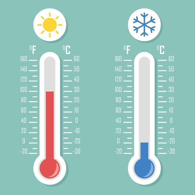 Temperatura Premium Wektorów
