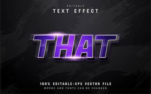 Ten Tekst, Fioletowy Efekt Tekstowy Gradientu Premium Wektorów