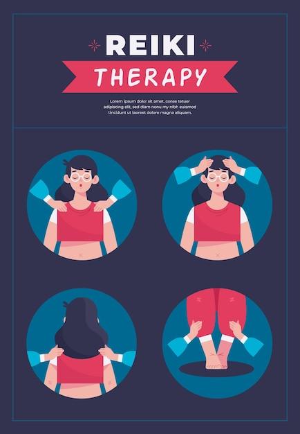 Terapia Reiki Medycyna Alternatywna Darmowych Wektorów