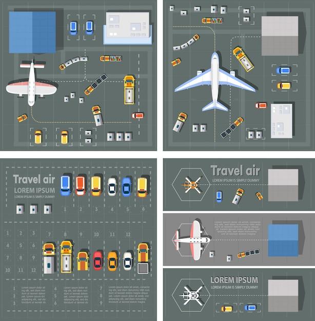 Terminal pasażerski lotniska Premium Wektorów