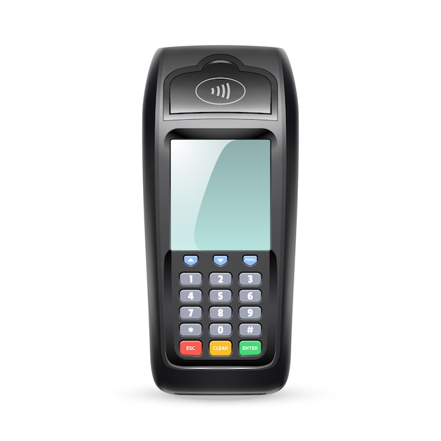 Terminal płatności pojedynczej Premium Wektorów