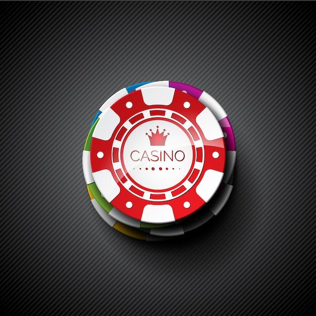 Tła żetonów w kasynie Darmowych Wektorów
