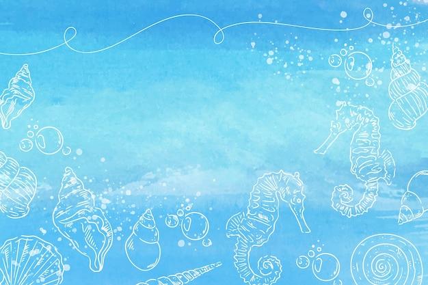 Tle Akwarela Z Ręcznie Rysowane Elementy Abstrakcyjne Darmowych Wektorów