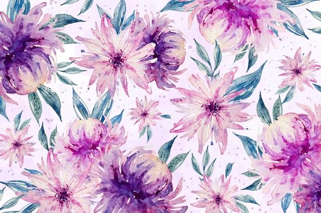 Tło akwarela kwiatowy w delikatnych kolorach Darmowych Wektorów