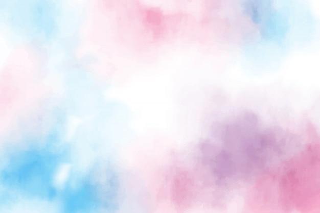 Tło akwarela niebieski i różowy słodki cukierek Premium Wektorów