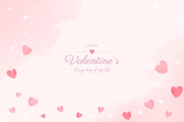 Tło Akwarela Walentynki Darmowych Wektorów
