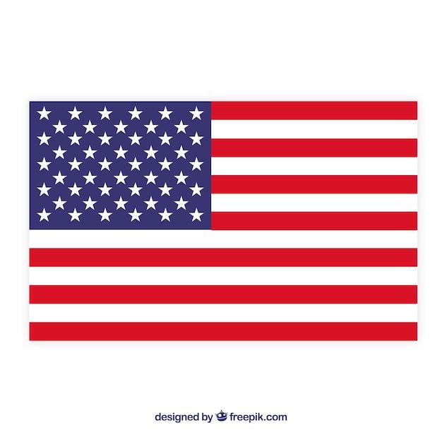 Tło Amerykańskiej Flagi Premium Wektorów