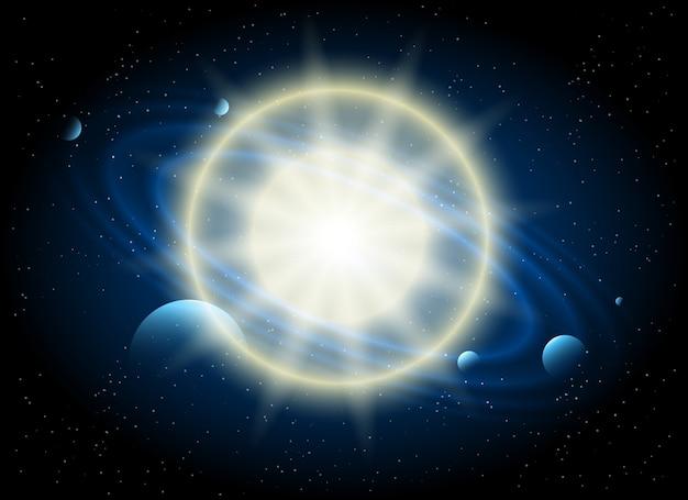 Tło astronomii gwiazdy i planety Premium Wektorów