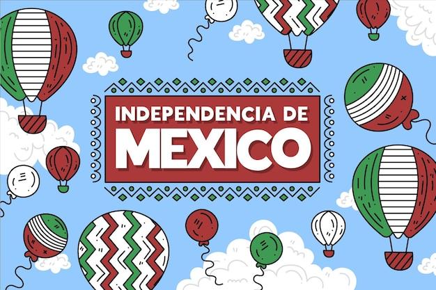 Tło Balon Dzień Niepodległości Meksyku Darmowych Wektorów