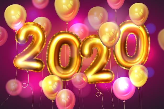 Tło balony realistyczne nowy rok Darmowych Wektorów