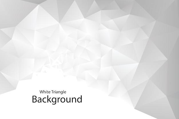 Tło Białe Geometryczne Trójkąt Premium Wektorów