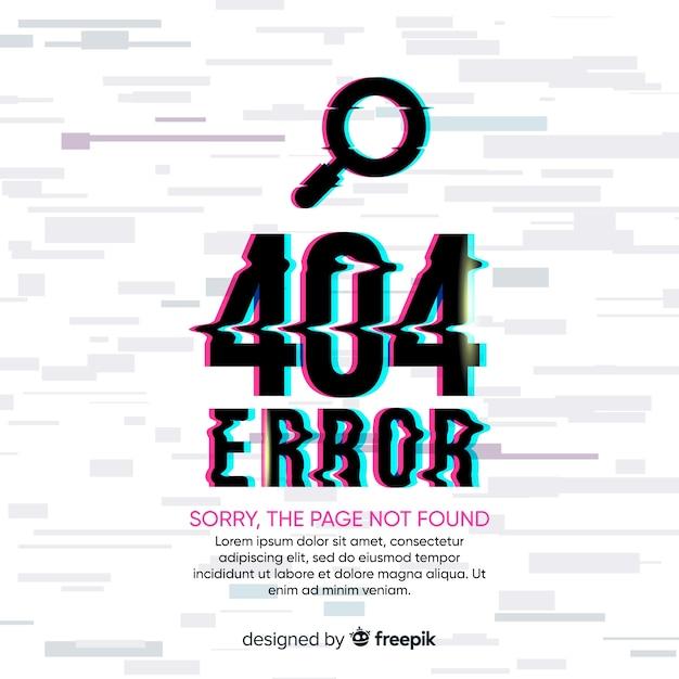 Tło błędu 404 Darmowych Wektorów