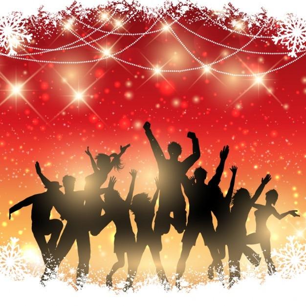 Tło christmas party Darmowych Wektorów