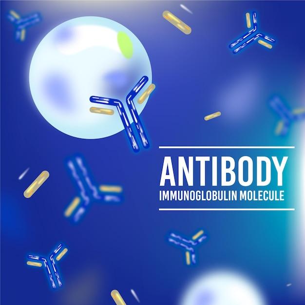 Tło Cząsteczki Realistyczne Przeciwciało Immunoglobuliny Darmowych Wektorów