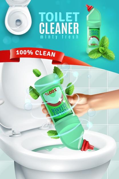 Tło dla środków czyszczących do toalet Darmowych Wektorów