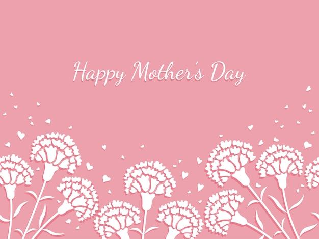 Tło Dnia Matki Premium Wektorów