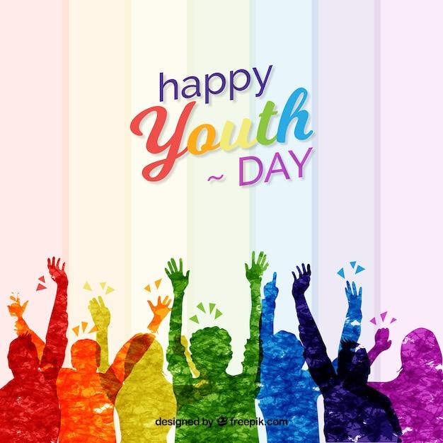 Tło Dnia Młodzieży Darmowych Wektorów