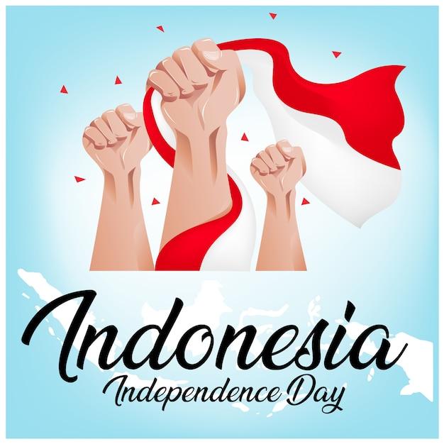 Tło dnia niepodległości indonezji Premium Wektorów
