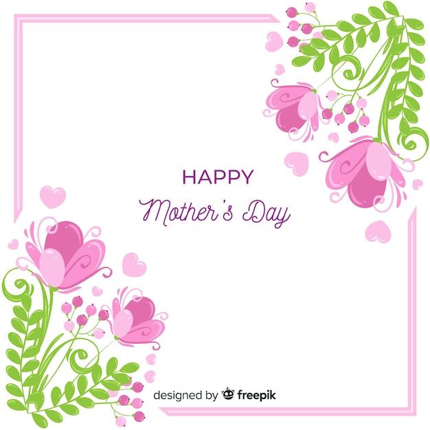 Tło dzień matki kwiatowy Darmowych Wektorów