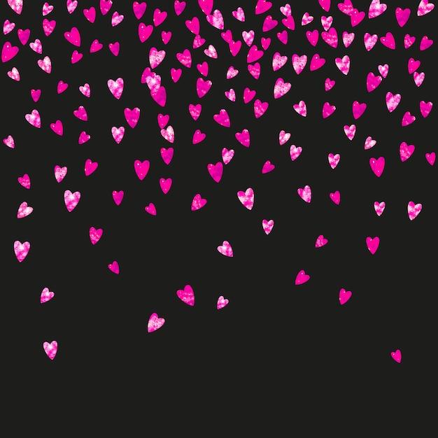 Tło Dzień Matki Z Konfetti Różowy Brokat. Symbol Na Białym Tle Serce W Kolorze Różowym. Pocztówka Na Tle Dnia Matki. Motyw Miłosny Do Zaproszenia Na Imprezę, Oferty Handlowej I Reklamy. Projekt Wakacje Kobiet Premium Wektorów