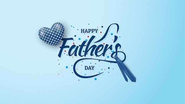 Tło Dzień Ojca Z Niebieskimi Balonami I Krawat Ilustracje W Kolorze Niebieskim. Premium Wektorów